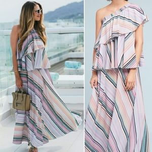 Anthropologie | Guapa | Striped Maxi Dress